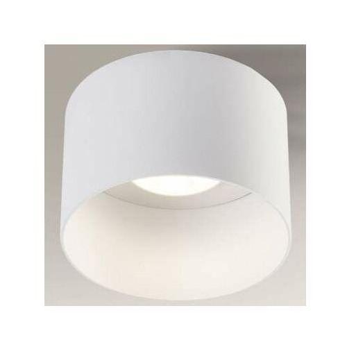 Natynkowa lampa sufitowa konan 7081 okrągła oprawa metalowa biała marki Shilo