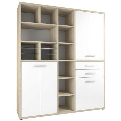 Maja-möbel Regał biurowy set+ 216x191 cm, naturalny-biały, mdf, 16912446