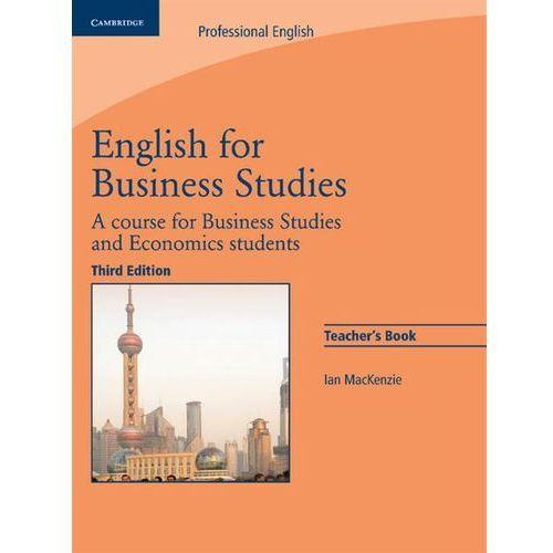 English For Business Studies. 3th Edition. Książka Nauczyciela, oprawa miękka