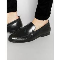 tassel loafers in black leather - black, Red tape