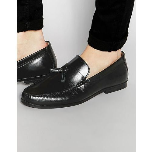 tassel loafers in black leather - black marki Red tape