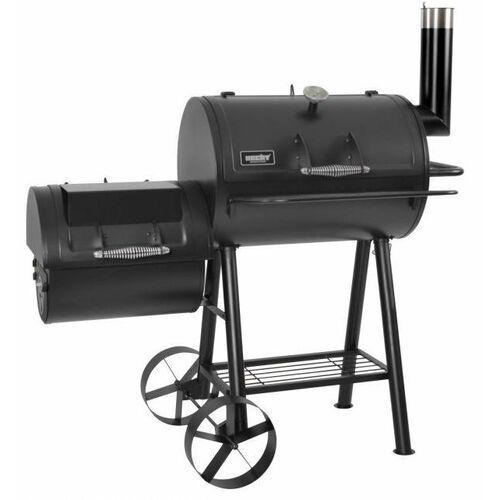 Hecht sentinel xl duży grill węglowy ogrodowy z wędzarką wędzarnia 2 paleniska termometr komin 132cm ewimax - oficjalny dystrybutor - autoryzowany dealer hecht marki Hecht czechy