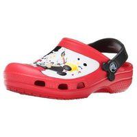 Crocs Classic Mickey Paint Splatter Red Czerwone klapki Myszka Miki dla dzieci