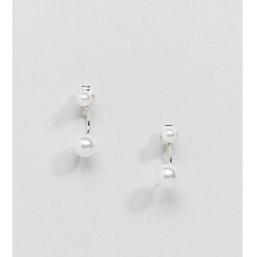 Kingsley Ryan Sterling Silver Pearl Through & Through Earrings - Silver