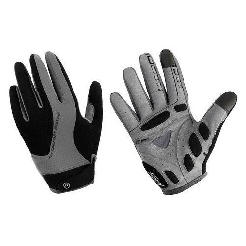 610-80-55_ACC-L Rękawiczki z długimi palcami Accent Champion czarno-szare L