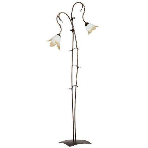 Luminex Lampa podłogowa stojąca oprawa palm 2x60w e27 złoty/brązowy/biały/brzoskwiniowy 3706