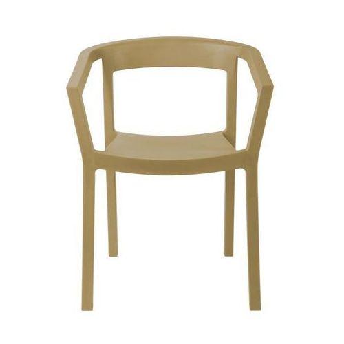 Krzesło Peach - piaskowy, kolor piaskowy