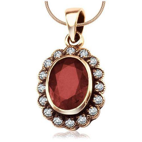 Kolekcja wiktoriańska - zawieszka z brylantami i rubinem marki Biżuteria yes