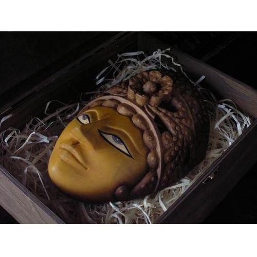 EKSCYTUJĄCY PREZENT RZEŹBA Maska ZŁOTEJ KRÓLOWEJ