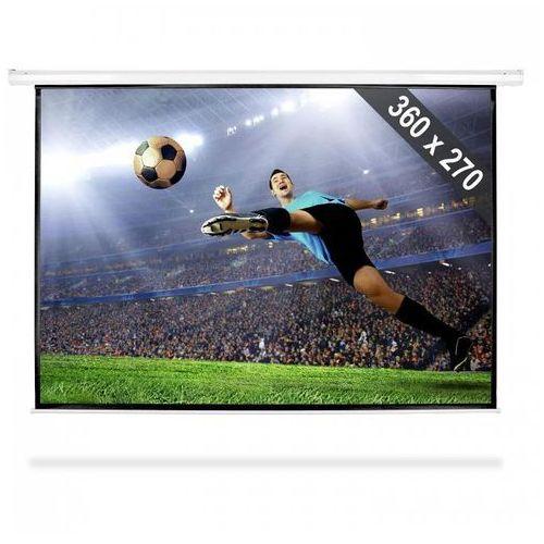FrontStage Elektryczny ekran projekcyjny rozwijany, 360 x 270 cm, kino domowe, HDTV