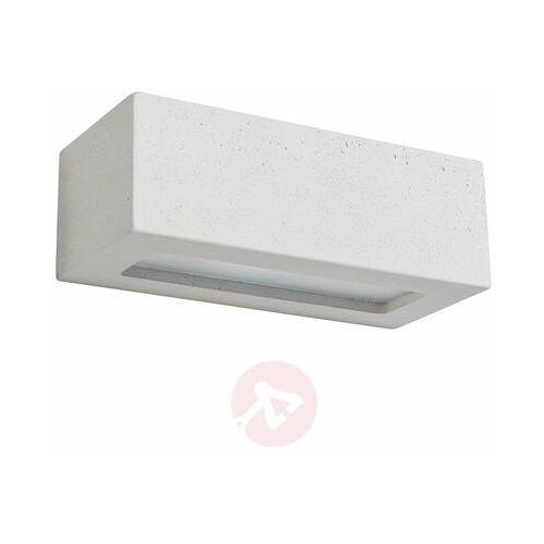 Lampa ścienna Block z betonu, kątowa, biała (5907795177182)