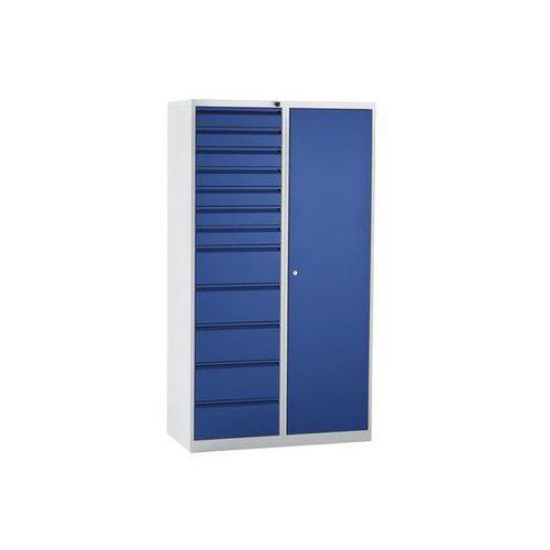 Szafka szufladowa, stal,wys. x szer. x głęb. 1800 x 1000 x 500 mm, 12 szuflad marki Quipo