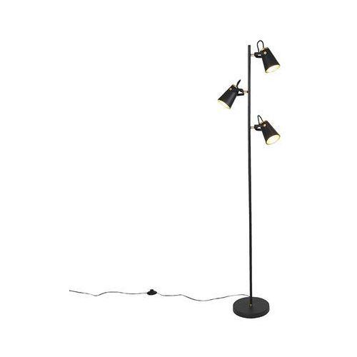 Lampa podłogowa w stylu art deco, czarna, 3 światła - Eddie