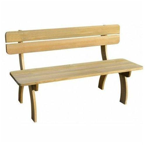Drewniana ławka ogrodowa Abder - brązowa