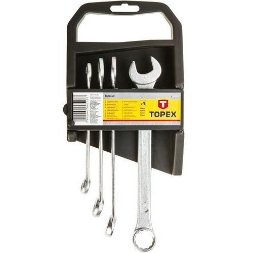 Zestaw kluczy płasko-oczkowych TOPEX 35D374 6 - 19 mm (8 elementów) (5902062005168)