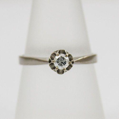 Złoty pierścionek z diamentem P1567