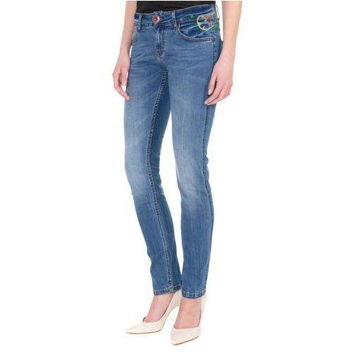 Desigual jeansy damskie Refriposas 29 niebieski (8434486018778)