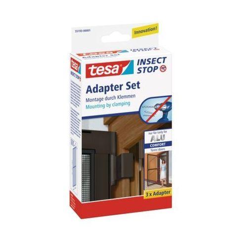 Adapter Tesa Comfort do aluminiowych ram moskitier, brązowy, 55193-00003-00
