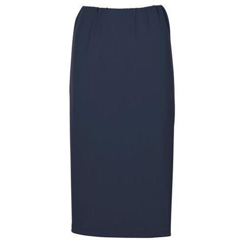 Bonprix Spódnica ołówkowa ciemnoniebieski