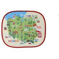 Tuloko  osłonka przeciwsłoneczna z mapą polski (2 szt + naklejka na szybę)