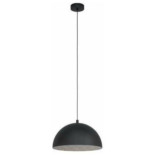 Eglo Geatano 1 99451 lampa wisząca zwis 1x40W E27 czarna/szara (9002759994518)