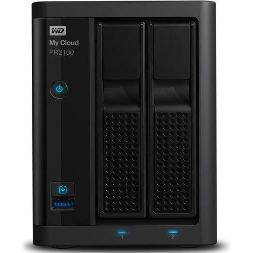 Western digital wdbbcl0000nbk-eesn my cloud pro serie pr2100 2-bay dysk sieciowy nas, lan, procesor: 1.6ghz quad-core intel pentium n3710, pamięć ram: 4gb ddr3l, build-in transcoding, czarny, czarny 16 tb (0718037846071)