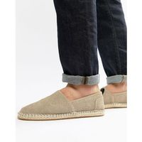River island suede espadrille in stone - stone