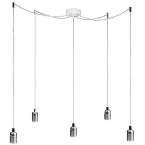 Sotto luce Minimalistyczna lampa wisząca bi 5/s/silver metalowa oprawka zwis na przewodzie kablu pająk spider srebrny (1000000229912)