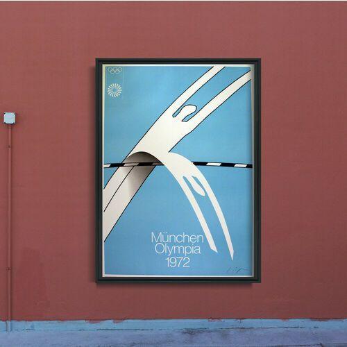 Plakat w stylu retro Plakat w stylu retro Igrzyska olimpijskie w Monachium Alfonso Hüppi