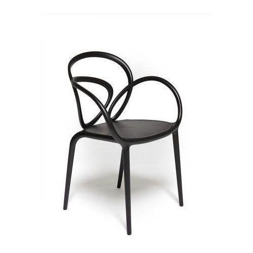 krzesło loop czarne - 2 szt. 30001bl marki Qeeboo