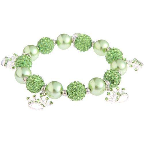 Bransoletka z charmsami zielona - zielony