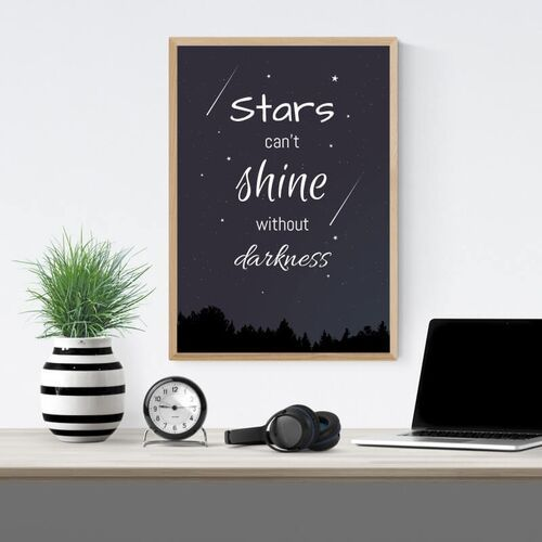 Plakat stars can't shine without darkness 031 marki Wally - piękno dekoracji