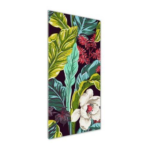Foto obraz na szkle Tropikalne kwiaty