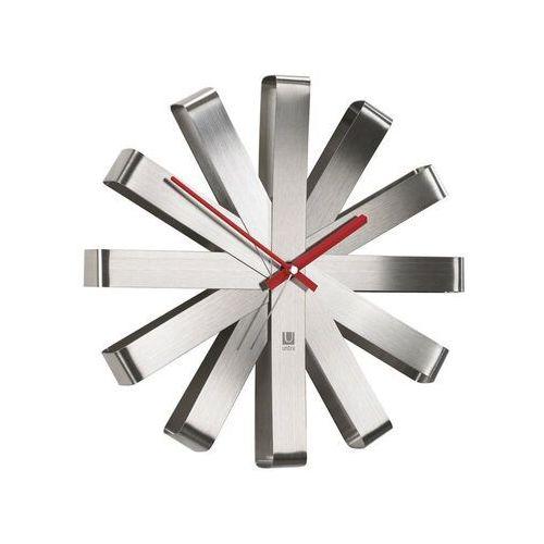 - zegar ścienny ribbon - stal matowa marki Umbra