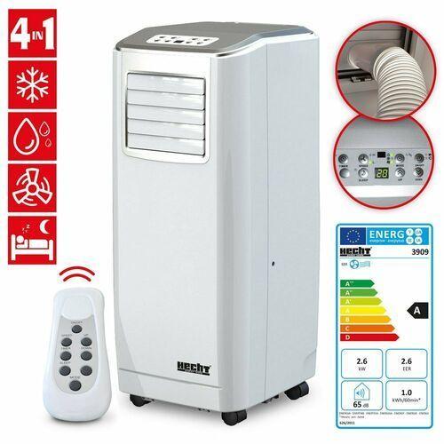 Hecht czechy Hecht 3909 klimatyzator przenośny klimatyzacja klimatyzer klimator mobilny 2,6kw + pilot 75m. ewimax - oficjalny dystrybutor - autoryzowany dealer hecht