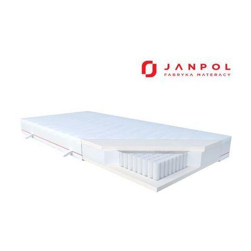 Janpol andromeda - materac multipocket, sprężynowy, pokrowiec - tencel, twardość - średni, rozmiar - 120x190 wyprzedaż, wysyłka gratis (5906267419935)