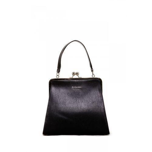 Mała torebka typu kuferek w trapezowym kształcie - Franco Bellucci