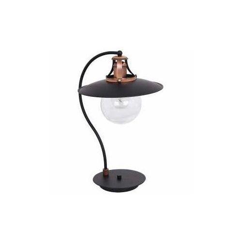 Lampka stołowa Luminex Cancun 7714 lampa biurkowa 1x60W E27 czarna / antyczna miedź