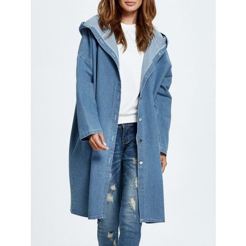 Hooded Jean Coat