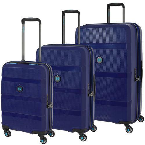 Bg berlin zip2 zestaw walizek / komplet / walizki antywłamaniowe / jazz blue - jazz blue