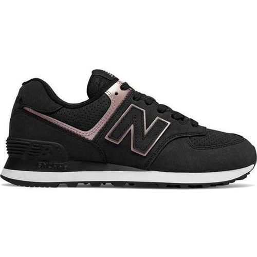 New balance wl574nbk black with champagne metallic