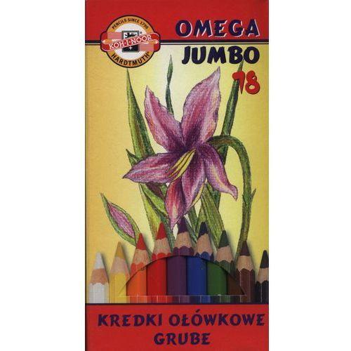 Kredki 18 kolorów Omega Jumbo, 3373