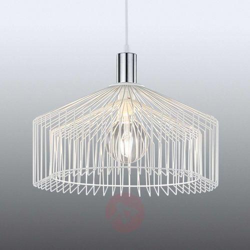 Trio tanja lampa wisząca chrom, biały, 1-punktowy - vintage - obszar wewnętrzny - tanja - czas dostawy: od 4-8 dni roboczych (4017807298659)