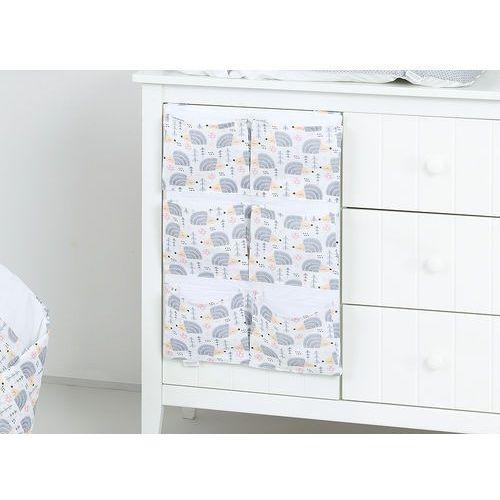 Mamo-tato przybornik organizer na łóżeczko jeżyki szare
