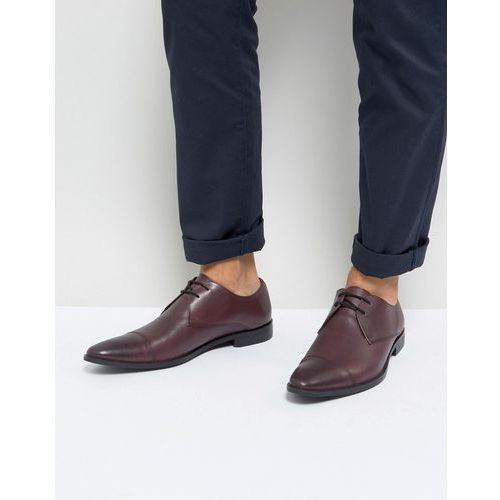 toe cap derby shoes in burgundy leather - red marki Frank wright