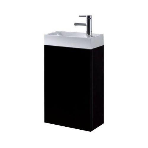 Elita Zestaw szafka + umywalka 40 cm czarna wysoki połysk young basic 40 1d black uniwersalna prawa-lewa