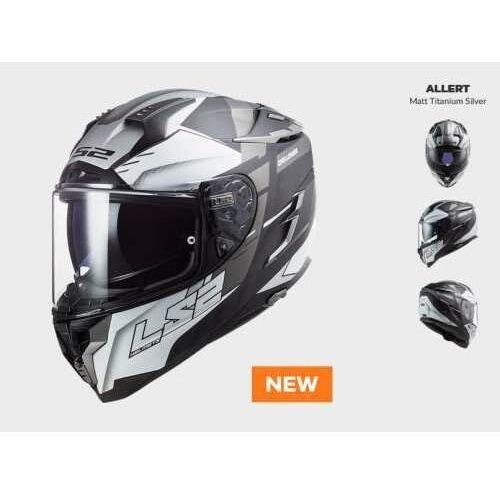 Ls2 Kask motocyklowy ff327 challenger allert titan silver - nowość 2021 roku