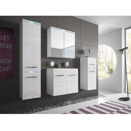 Shower design Komplet clarence z ledami - meble łazienkowe - lakierowane na biało