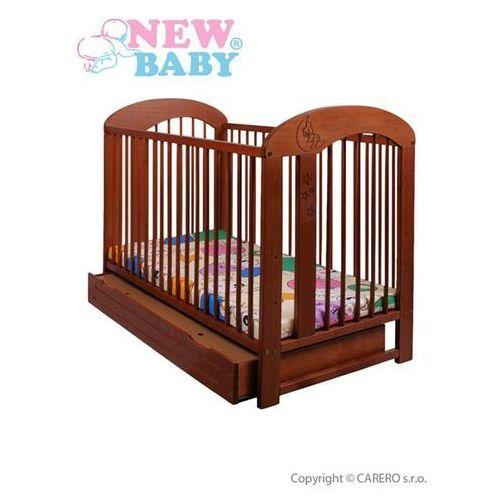 Klasyczne łóżeczko dla dzieci New Baby Natalia - teak + szuflada