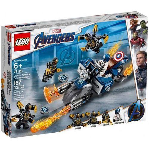 76123 KAPITAN AMERYKA: ATAK OUTRIDERÓW ( Captain America: Outriders Attack )- KLOCKI LEGO SUPER HEROES